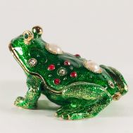Faberge Style Green Froggy, fig. 1