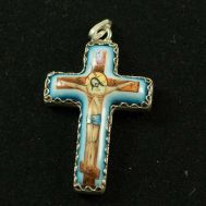Enamel Pendant Orthodox Cross, fig. 1