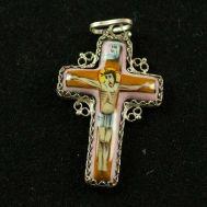 Enamel Orthodox Cross, fig. 1