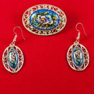 Finift Jewelry Set Expectation Blue, fig. 1