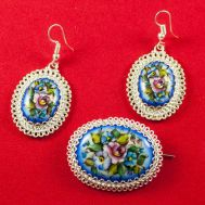 Finift Jewelry Set Summer Blue, fig. 1