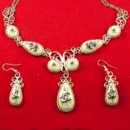 Enamel Jewelry Set Nocturne, fig. 1