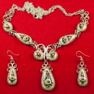 Enamel Jewelry Set Nocturne with Deasies, fig. 1