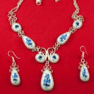 Jewelry Set Nocturne Blue Flowers, fig. 1