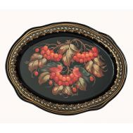 Zhostovo Tray Ash-Berries on Black, fig. 1