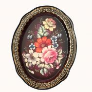 Zhostovo Tray Wild Flowers on Red, fig. 1