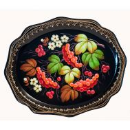 Tray Zhostovo Style Ash-Berries, fig. 1