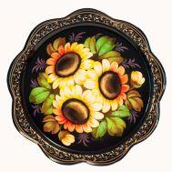 Zhostovo Tray Sunflowers, fig. 1