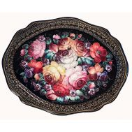 Zhostovo Tray Bouquet with Roses, fig. 1
