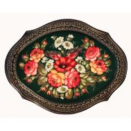 Zhostovo Tray Bouquet with Roses and Chamomiles, fig. 1