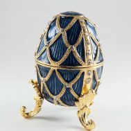 Blue Faberge Style Egg, fig. 1