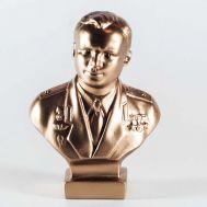 Yuri Gagarin Gypsum Bust Bronze Color, fig. 1
