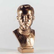 Felix  Dzerzhinsky Gypsum Bust Bronze Color, fig. 1