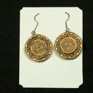 Birch Bark Earrings Round, fig. 1