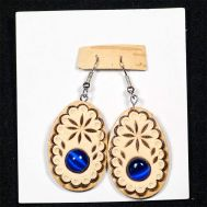 Birch Bark Earrings with Lapis Lazuli, fig. 1