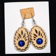 Earrings with Lapis Lazuli Stone, fig. 1
