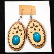 Earrings with Turquoise Stone, fig. 1