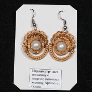 Birch Bark Earrings with Pearl, fig. 1