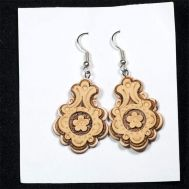 Birch Bark Earrings Oval Shape, fig. 1