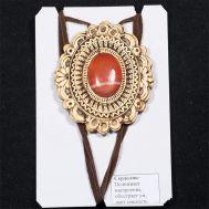 Birch Bark Pendant with Cornelian Stone, fig. 1