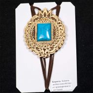 Birch Bark Pendant with Turquoise Stone, fig. 1