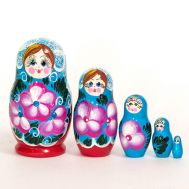 Matryoshka Blue with Crystals, fig. 1