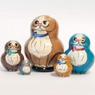 Matryoshka Doll Beige Cat, fig. 1