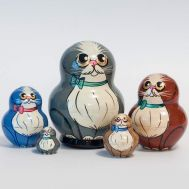 Matryoshka Doll Gray Cat, fig. 1