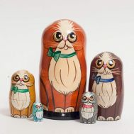 Nesting Doll Red Cat, fig. 1