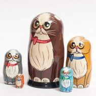 Nesting Doll Brown Cat, fig. 1