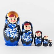 Matryoshka Blue Leaves, fig. 1