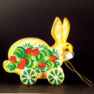 Wooden Rabbit Rolling Toy, fig. 1