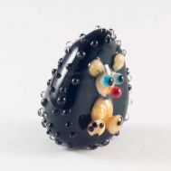 Blown Glass Figurine Hedgehog, fig. 1