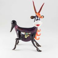 Glass Jolly Goat Figurine, fig. 1