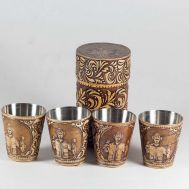 Set of Shot Glasses with Case Fisherman, fig. 1