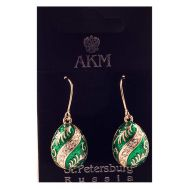 Earrings Wave on Green, fig. 1