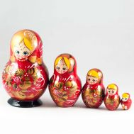 Matryoshka Roses on Red, fig. 1