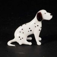 Sitting Gundog Glass Figure, fig. 1