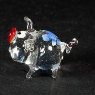 Glass Pig Transparent Figurine, fig. 1