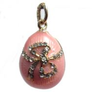 Faberge Pendant Bow Pink, fig. 1