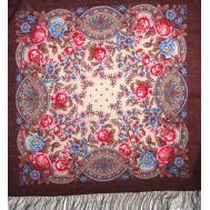 Godmother Dark Cherry Shawl, fig. 1