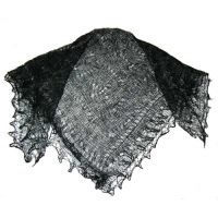 Black color Orenburg shawl