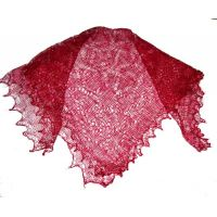 Red Orenburg shawl