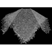 Grey Orenburg shawl