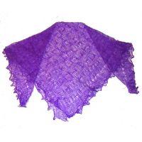 Violet Orenburg shawl
