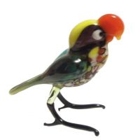 Glass Parrot Figurine