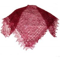 Vinous red Orenburg shawl