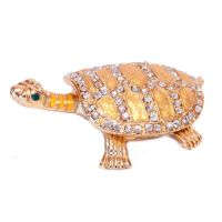 Faberge Box Gold Turtle
