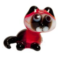 Cat glass figurine
