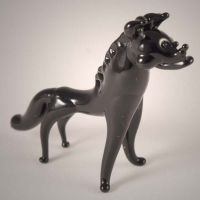 Glass Figurine Hyena